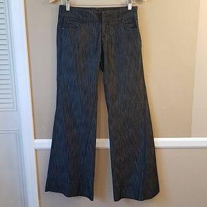 Anthro Level 99 wide leg dark wash jeans size 25